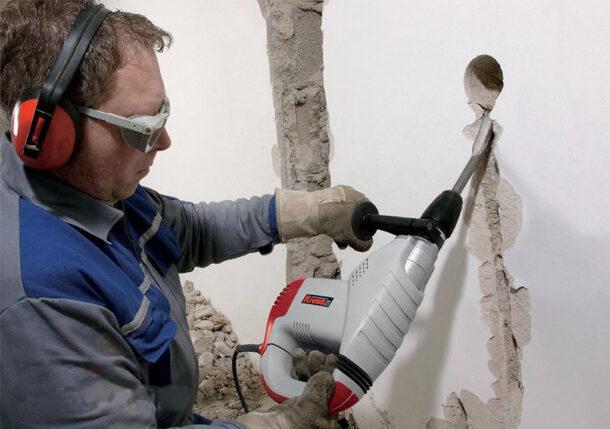 штробление стен перфоратор