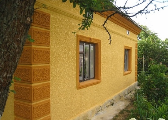 Штукатурка фасада жилого дома
