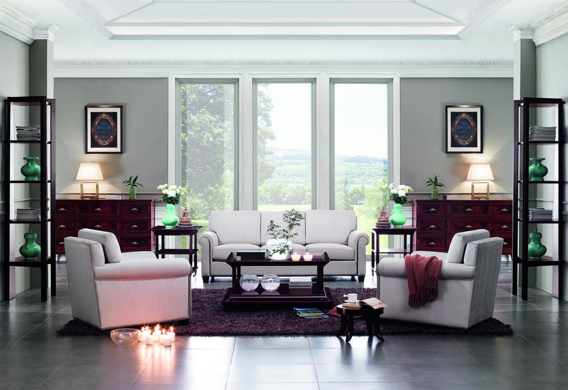 симметричное расположение мебели в гостиной 2