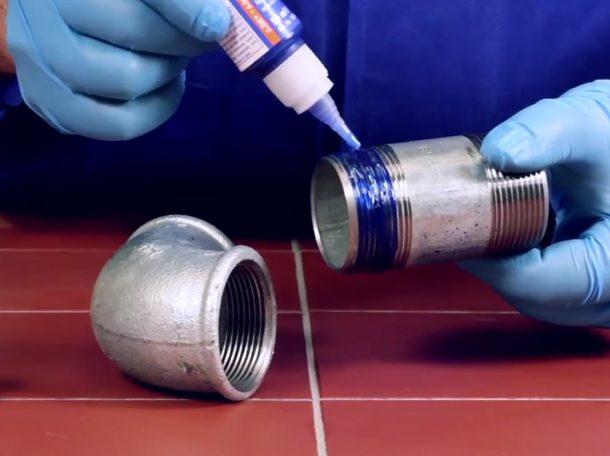 анаэробный герметик синий
