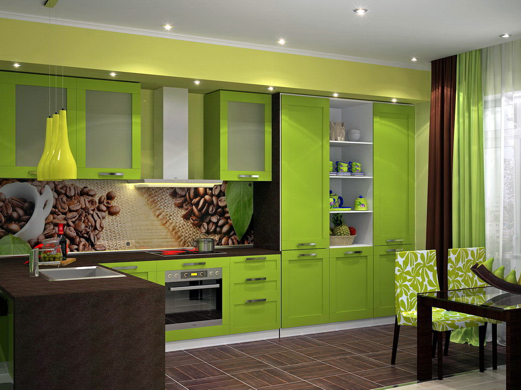 Выбираем скинали для кухни: дизайн, размер, тип печати