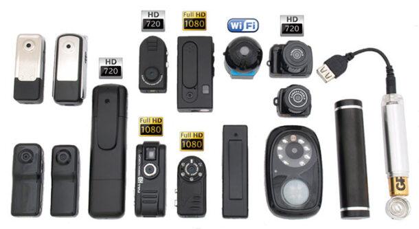 виды скрытых камер видеонаблюдения