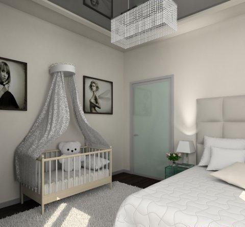 спальня совмещенная с детской