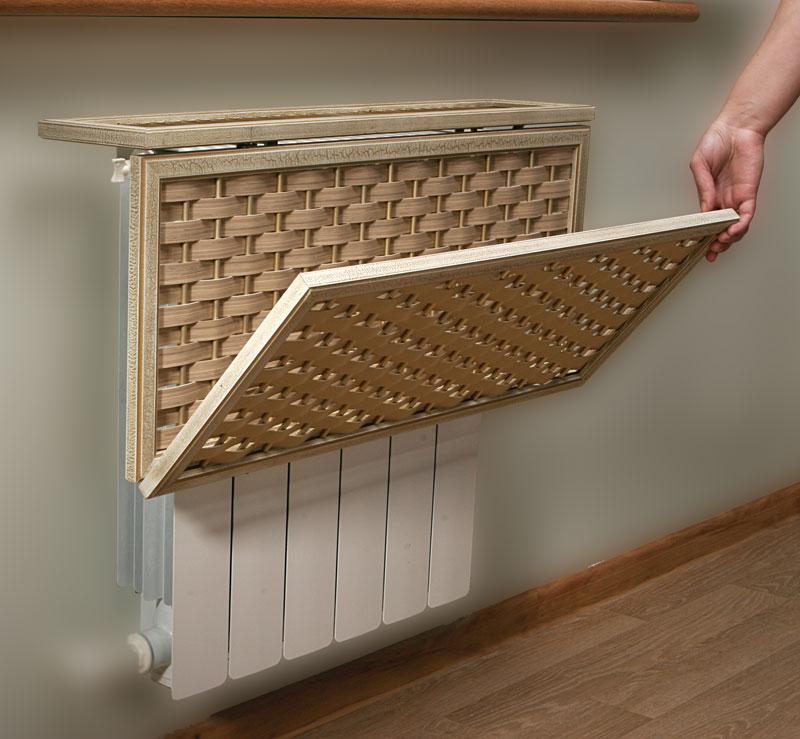 спрятать радиатор отопления навесной экран 2
