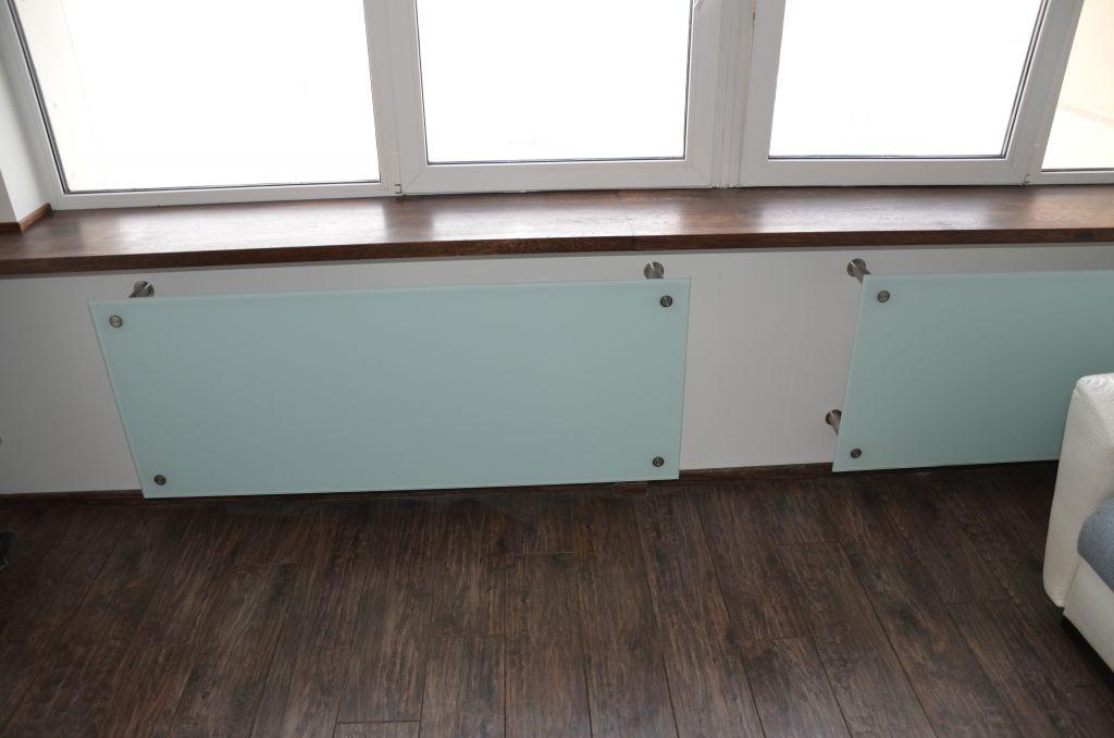 спрятать радиатор отопления стекло 2