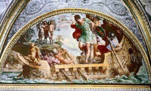 образец старинной фрески