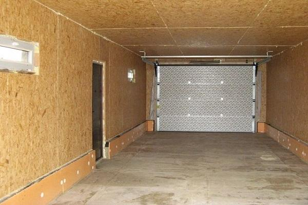 Отделка стен гаража листами ОСП