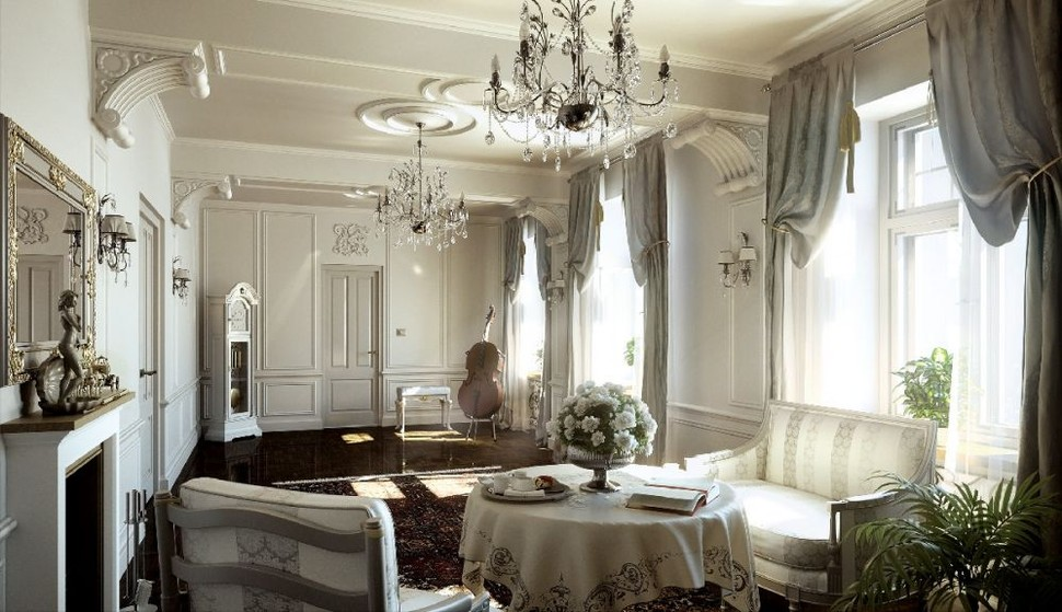 стиль классицизм в интерьере