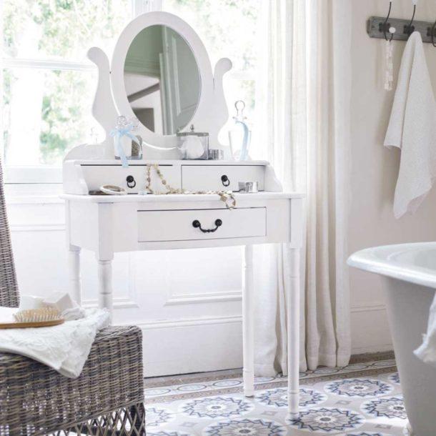 туалетный столик для ванной с вращающимся зеркалом