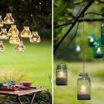 светильники из стеклянных банок для дачи