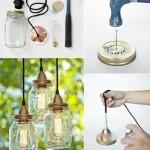 светильники из стеклянных банок для дачи  3