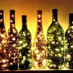 светильники из стеклянных бутылок 3