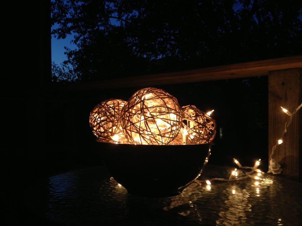 светильники из веревки