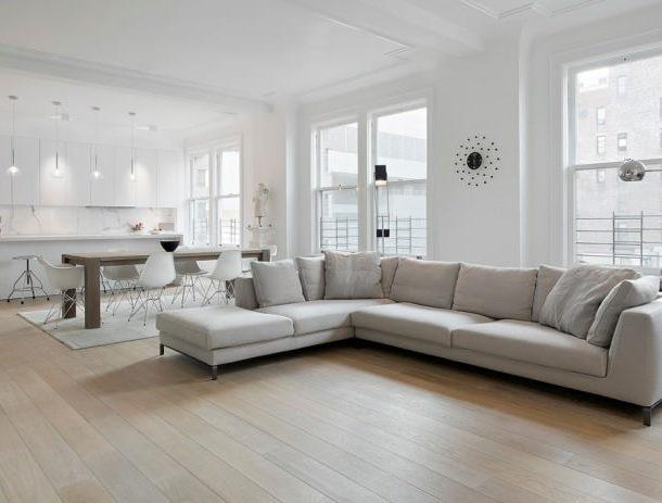 Светлая мебель светлый пол