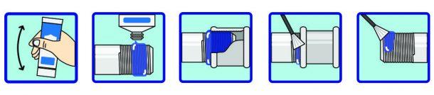 как наносить герметик