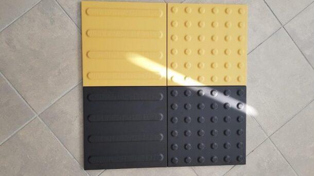 тактильная плитка желтая и черная