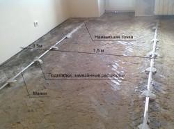 цементно-песчаная стяжка пола 2