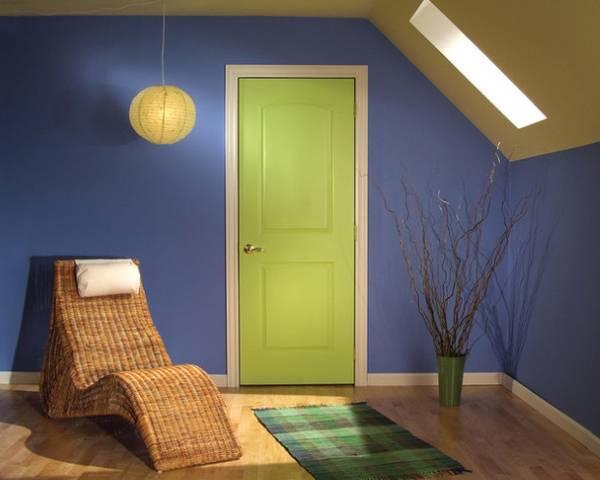 цвет межкомнатной двери в интерьере 4