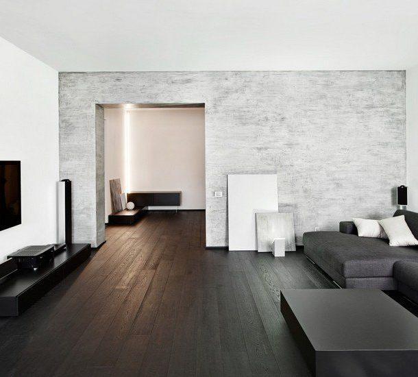 Тёмная мебель и пол