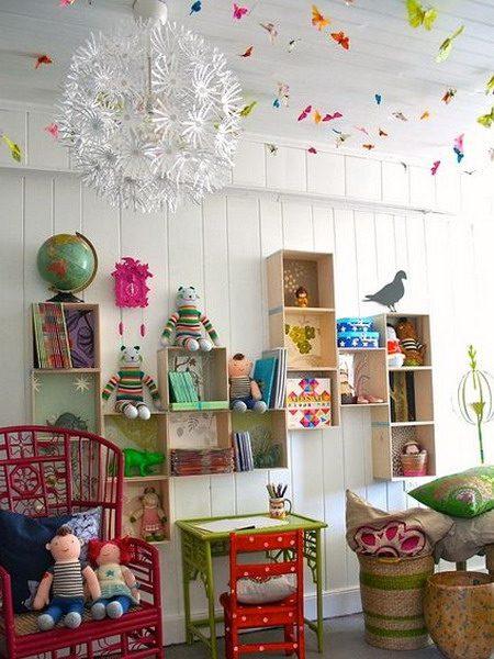 украсить потолок в детской 4