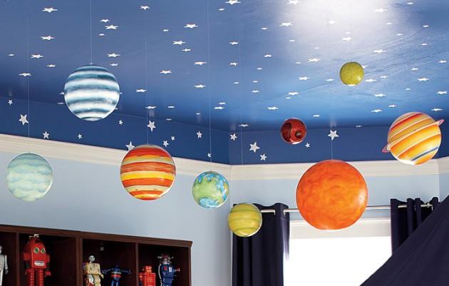 украсить потолок в детской 5