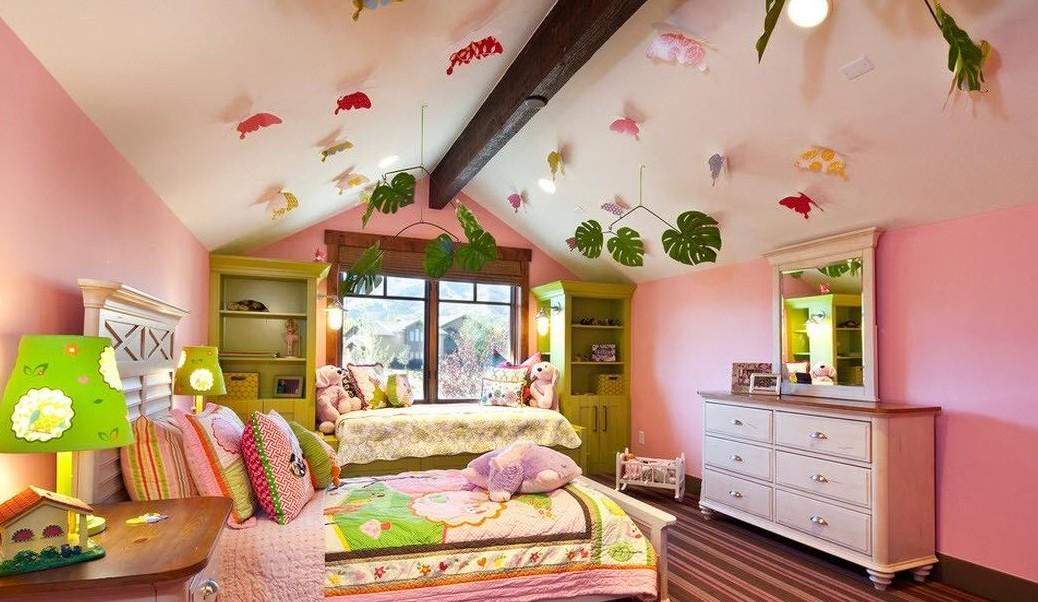 украсить потолок в детской