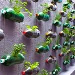 вазоны для цветов  из пластиковых бутылок