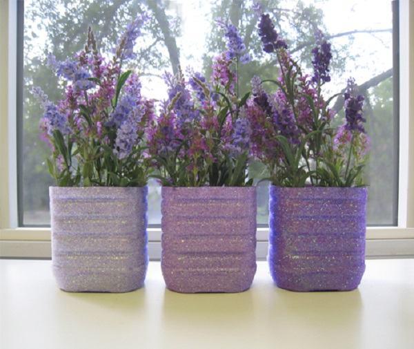 вазоны для цветов из пластиковых бутылок 3