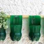 вазоны для цветов  из пластиковых бутылок 4