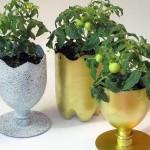 вазоны для цветов  из пластиковых бутылок 7