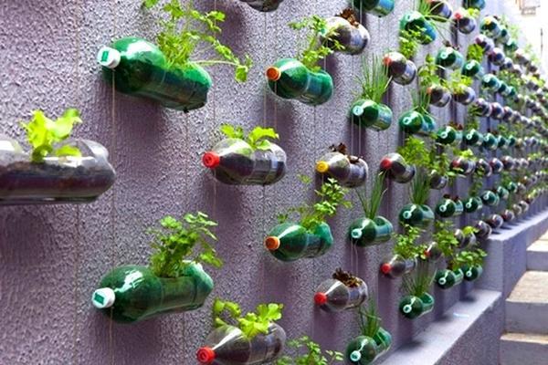 16 идей поделок из пластиковых бутылок для дачи