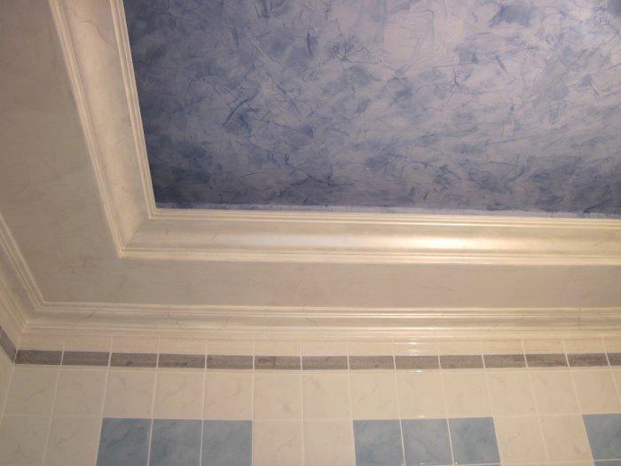 венецианская штукатурка в ванной потолок