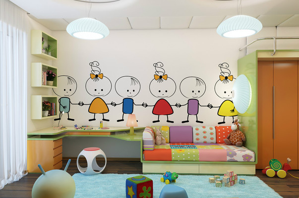 виниловые наклейки в детскую комнату