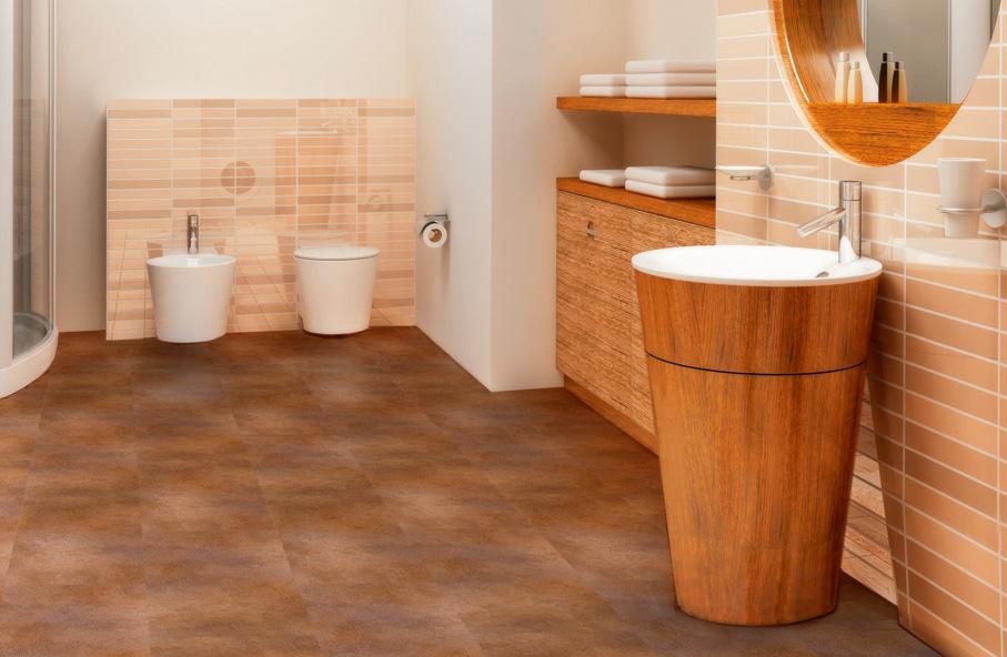 виниловый пол в ванной
