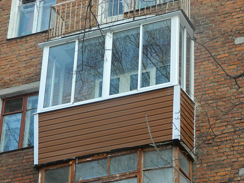 виниловый сайдинг для внешней отделки балкона 2