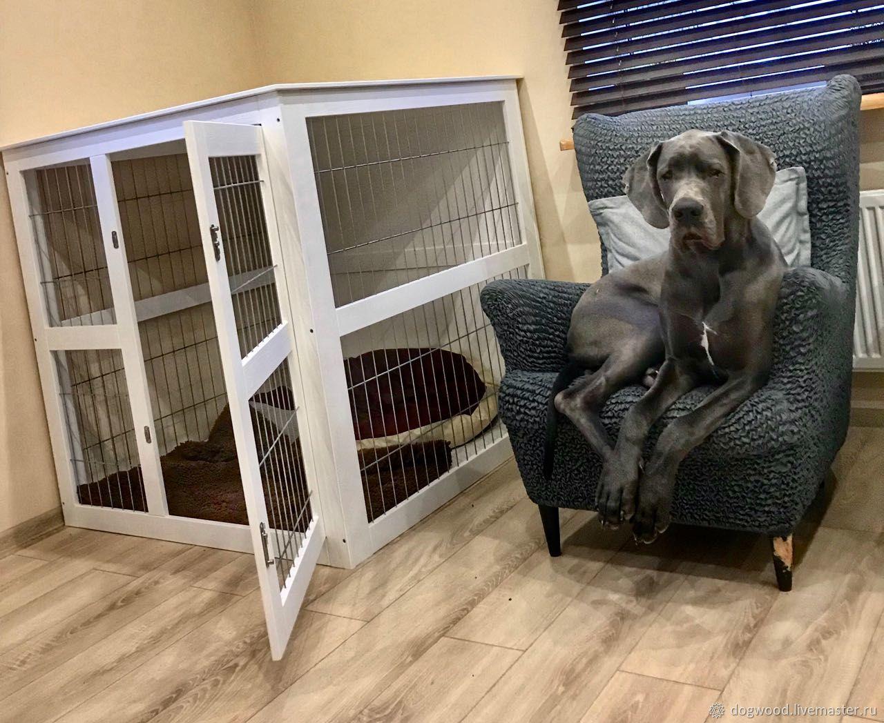 Как выбрать и установить вольер для собаки в квартире