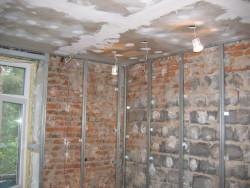 выравнивание стен гипсокартоном 2