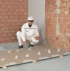 выравнивание стен гипсокартоном бескаркасное