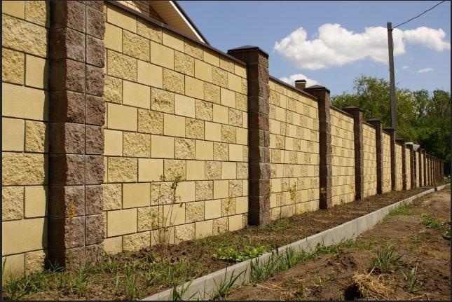 забор бетонных плит