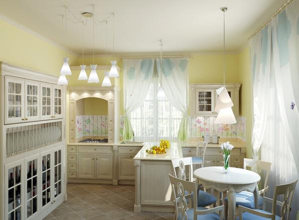 зонирование кухни освещение 2