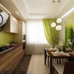 зонирование кухни отделка стен 2