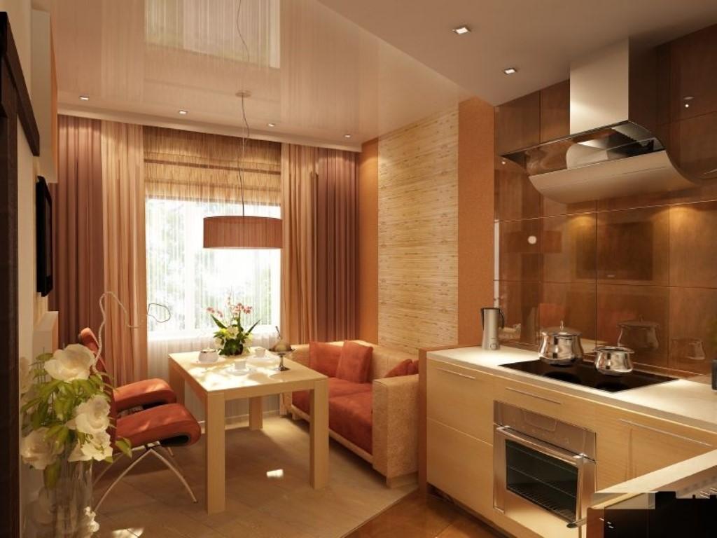 зонирование кухни отделка стен