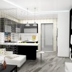 зонирование кухни перегородка 4