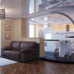 зонирование кухни подиум3