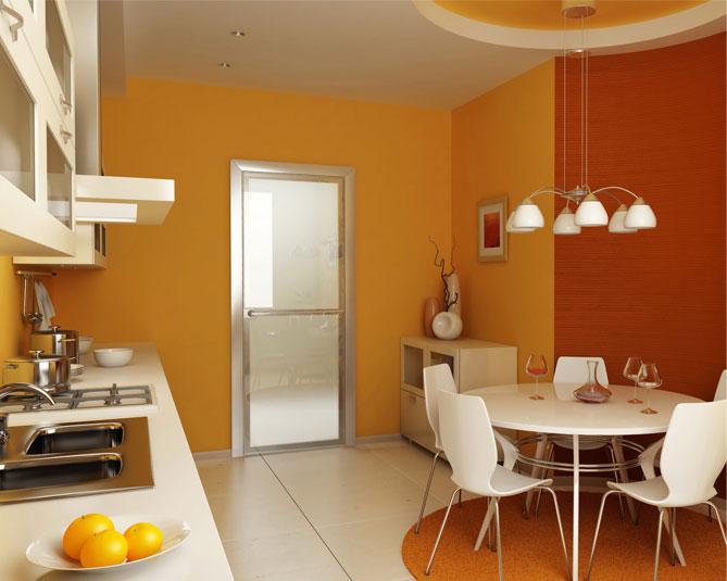 зонирование кухни цветом 2