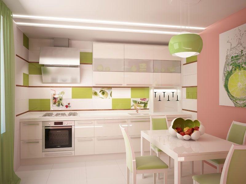 зонирование кухни цветом 3